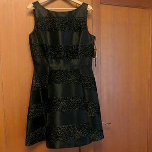 Black sparkle cocktail dress